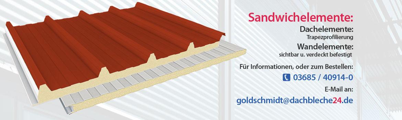 Sandwichelemente, Dachelemente - Trapezprofilierung, Wandelemente - sichtbar u. verdeckt befestigt
