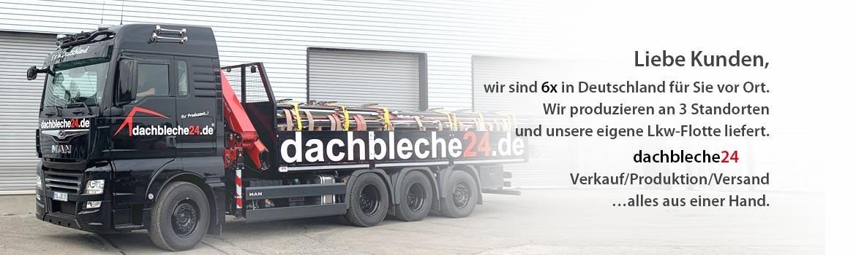 6x in Deutschland für Sie vor Ort.  Wir produzieren an 3 Standorten und unsere eigene Lkw-Flotte liefert.