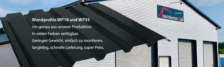 Wandprofile WP18 und WP35 cm-genau aus unserer Produktion. In vielen Farben verfügbar.